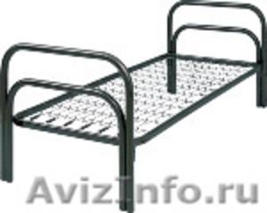 кровати одноярусные и двухъярусные металлические для общежитий и армий,турбаз - Изображение #4, Объявление #689275