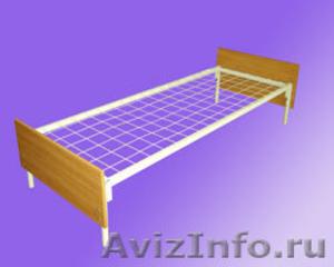 кровати одноярусные и двухъярусные металлические для общежитий и армий,турбаз - Изображение #6, Объявление #689275