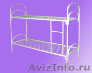 кровати одноярусные и двухъярусные металлические для общежитий и армий,турбаз - Изображение #2, Объявление #689275