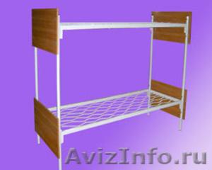 кровати одноярусные и двухъярусные металлические для общежитий и армий,турбаз - Изображение #3, Объявление #689275