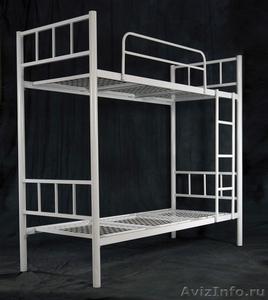 Кровати одноярусные металлические, кровати металлические двухъярусные. Дёшево - Изображение #1, Объявление #1479855