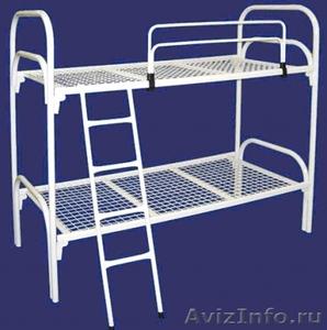 Кровати одноярусные металлические, кровати металлические двухъярусные. Дёшево - Изображение #4, Объявление #1479855