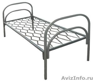 Кровати одноярусные металлические, кровати металлические двухъярусные. Дёшево - Изображение #2, Объявление #1479855