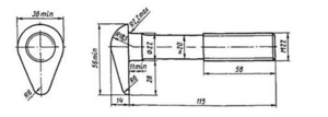 Болт стыковой М22х115 ГОСТ 11530-93, ГОСТ 11530-2014 на складе. - Изображение #2, Объявление #1696595