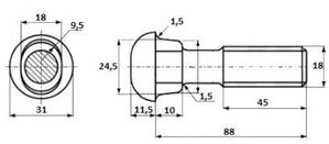 Болт стыковой М18х88 с гайкой ГОСТ 8144-73 на складе - Изображение #2, Объявление #1696597